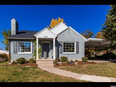 Salt Lake City Single Family Home For Sale: 1977 Hubbard