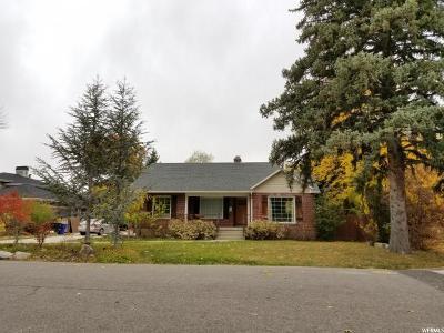 Salt Lake City Single Family Home For Sale: 3376 S Crestbrook Ln E