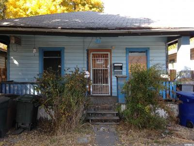 Salt Lake City UT Single Family Home For Sale: $84,900