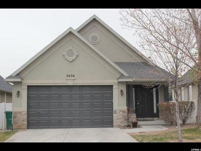 Lehi Single Family Home For Sale: 3634 W Plymouth Rock Cv N
