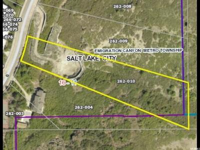 Salt Lake City Residential Lots & Land For Sale: 3070 E Kennedy S