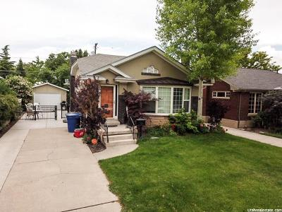 Salt Lake City Single Family Home For Sale: 1638 E Harvard Ave