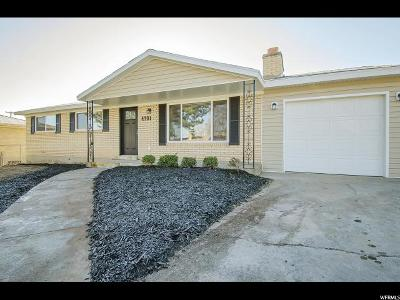 West Valley City Single Family Home For Sale: 4701 W 4365 S