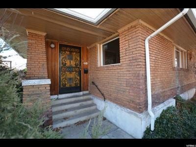 Salt Lake City Single Family Home For Sale: 48 E 1700 S