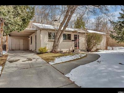 Salt Lake City Single Family Home For Sale: 1415 E Brookshire Dr S