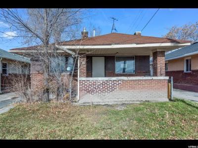 Salt Lake City UT Single Family Home For Sale: $122,500