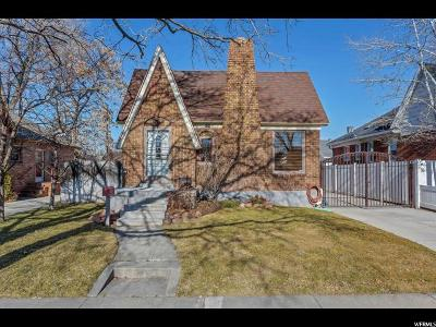 Salt Lake City Single Family Home For Sale: 575 E Cleveland Ave