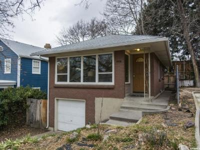 Salt Lake City Single Family Home For Sale: 479 N I St