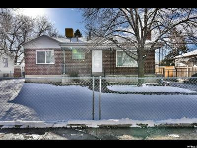 Salt Lake City UT Single Family Home For Sale: $319,900