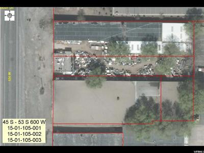 Salt Lake City Residential Lots & Land Under Contract: 45 S 600 W