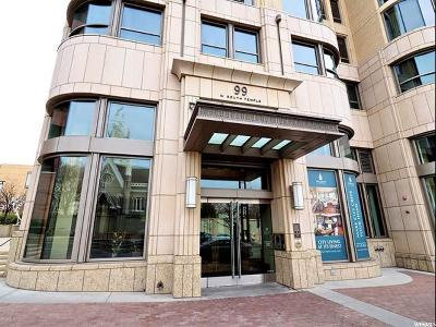 Salt Lake City Condo For Sale: 99 W South Temple St #2005