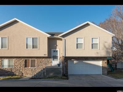 Salt Lake City Townhouse For Sale: 953 E Lincoln Oaks Ct