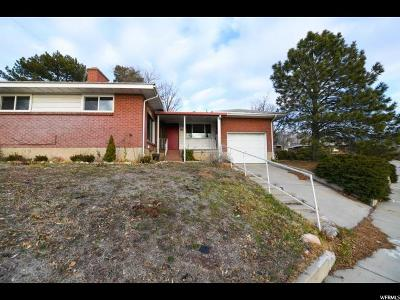 Salt Lake City Single Family Home For Sale: 1479 S Foothill Dr E