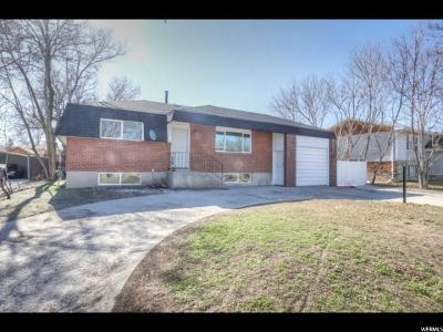 West Jordan Single Family Home For Sale: 3795 W Moreland Cir S