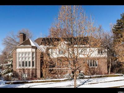 Salt Lake City Single Family Home For Sale: 1441 E South Temple