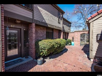 Salt Lake City Condo For Sale: 67 W Apricot Ave N