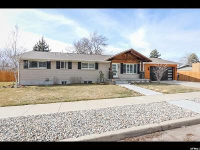 Cottonwood Heights Single Family Home For Sale: 6700 S 2445 E