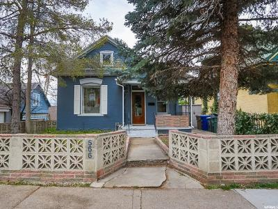 Salt Lake City Single Family Home For Sale: 566 E 6th Ave
