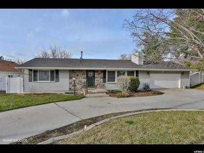 Cottonwood Heights Single Family Home For Sale: 1885 E 7200 S
