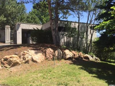 Salt Lake City Single Family Home For Sale: 342 N Federal Heights Cir E