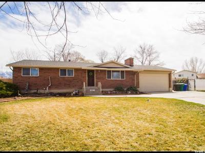 West Jordan Single Family Home For Sale: 1905 W Camelot