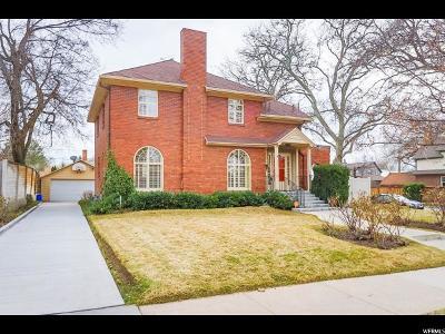 Salt Lake City UT Single Family Home For Sale: $850,000