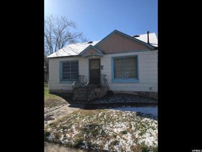 Ogden UT Single Family Home For Sale: $145,000