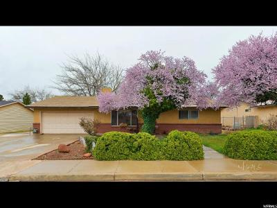 St. George Single Family Home For Sale: 1724 W 1230 N