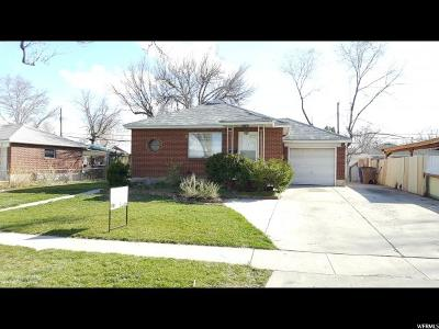 Salt Lake City UT Single Family Home For Sale: $220,000