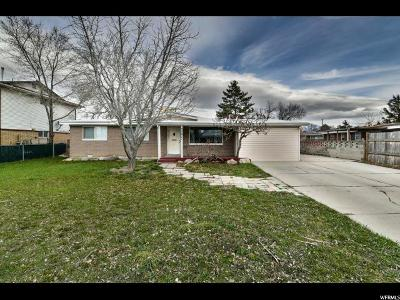 West Valley City Single Family Home For Sale: 3391 Beehive St W