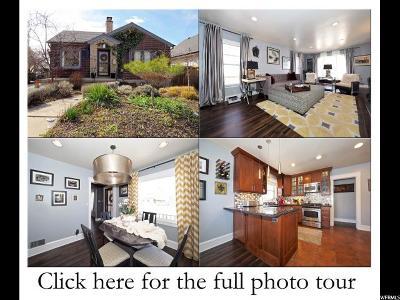 Salt Lake City Single Family Home For Sale: 1456 E Emerson Ave