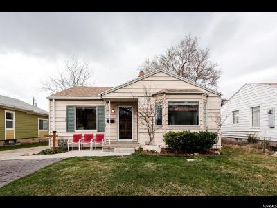 Salt Lake City Single Family Home For Sale: 2639 S 1800 E