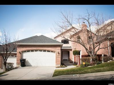 Provo Townhouse For Sale: 1366 E 2300 N