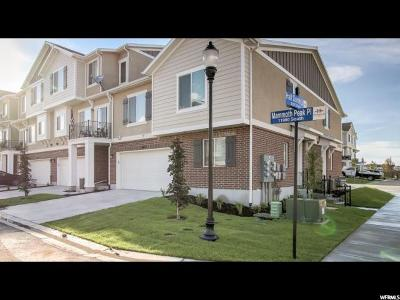 Herriman Townhouse For Sale: 5402 W Mammoth Peak Pl S