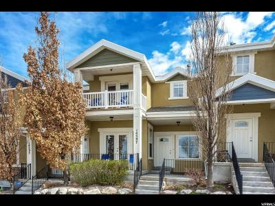 Herriman Townhouse For Sale: 14597 S Pebble Rose Dr W