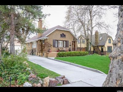 Salt Lake City Single Family Home For Sale: 1332 E Laird Ave