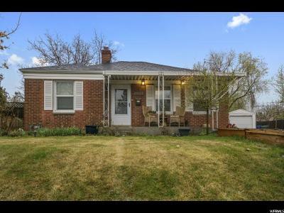 Salt Lake City Single Family Home For Sale: 2012 E Stratford Dr