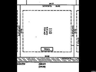 West Jordan Residential Lots & Land For Sale: 7930 W 2700 W