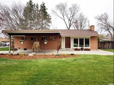 Holladay Single Family Home For Sale: 1731 E Meadowmoor Rd