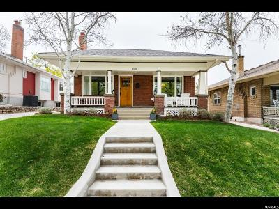 Salt Lake City Single Family Home For Sale: 1338 E Kensington Ave