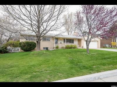 Salt Lake City Single Family Home For Sale: 2613 E Craig Dr