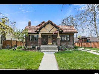 Salt Lake City Single Family Home For Sale: 1446 E Westminster Ave