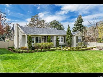 Salt Lake City Single Family Home For Sale: 2380 E Beacon Dr S