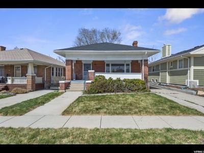 Salt Lake City Single Family Home For Sale: 821 E Coatsville Ave S