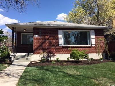Salt Lake City Single Family Home For Sale: 1141 S 700 E