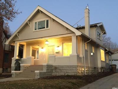 Salt Lake City Single Family Home For Sale: 345 S Douglas St E