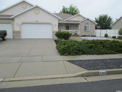 West Jordan Single Family Home For Sale: 2397 W Nathanael Way S