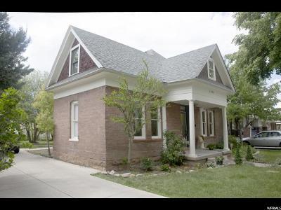 Salt Lake City Single Family Home For Sale: 1444 S 1000 E