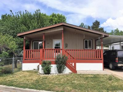 Ogden Single Family Home For Sale: 900 W Century Dr S #92