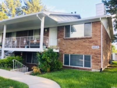 Salt Lake City Condo For Sale: 4053 S Vernon Cir E #D